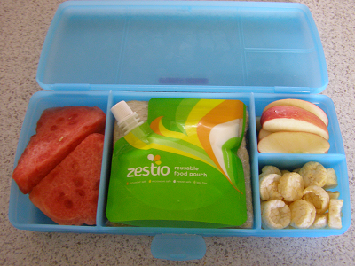 Tuppperware lunchbox with Zestio pouch