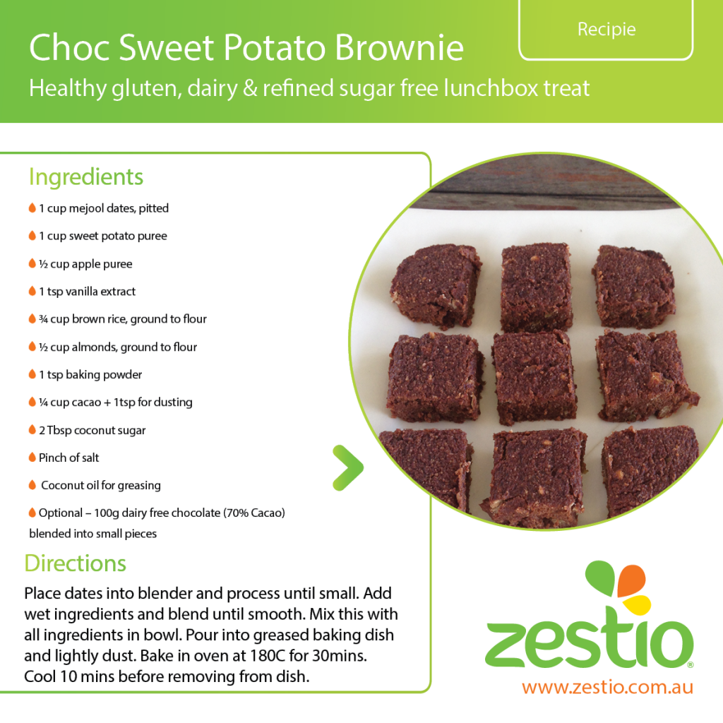 Choc Sweet Potato Brownie