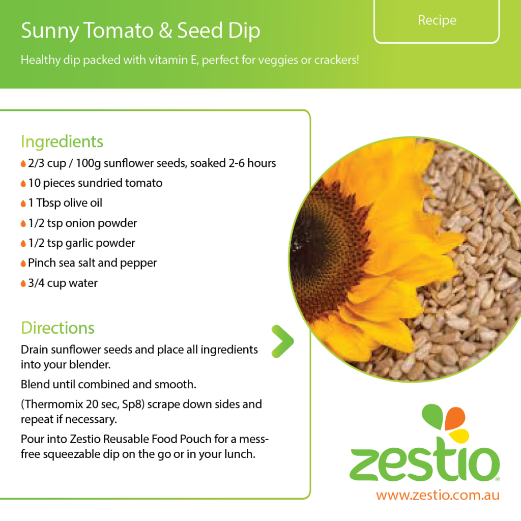 Sunny tomato and seed dip
