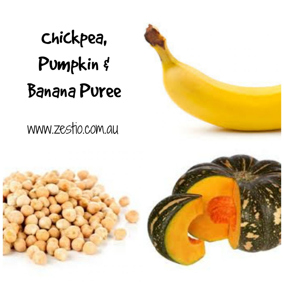 Chickpea Pumpkin banana puree
