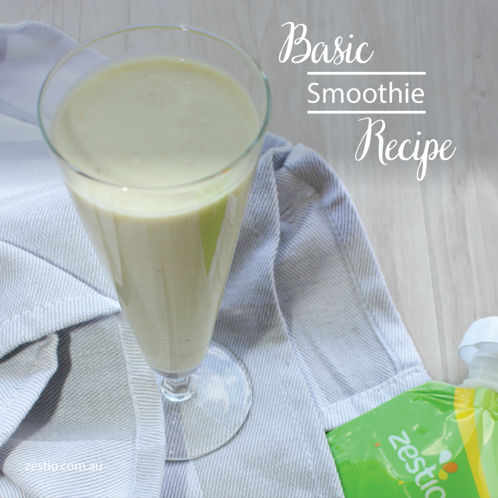 Basic Smoothie Recipe - So Easy - Zestio