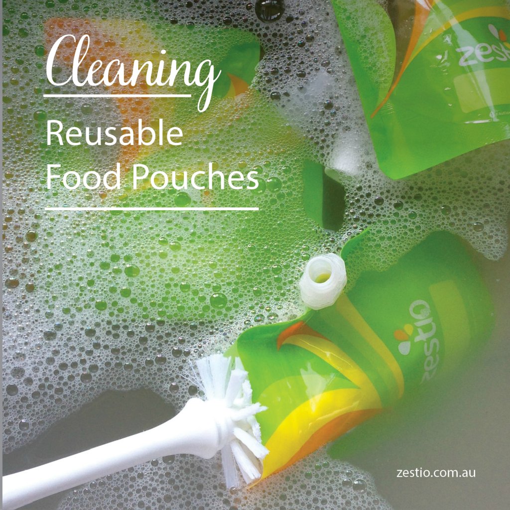 cleaning-reusable-food-pouches