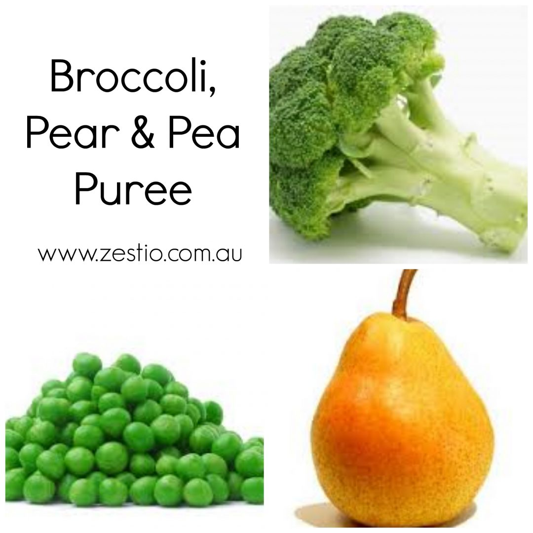 Broccoli-Pear-Peas-Puree
