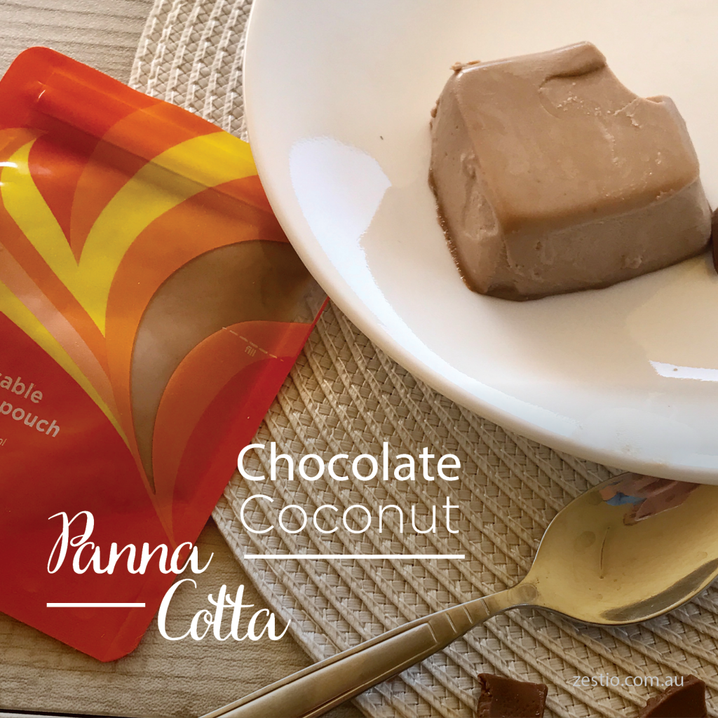 Chocolate Coconut Panna Cotta
